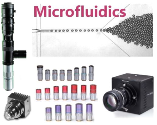 Microfluidic imaging components and systems
