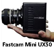 Fastcam Mini UX50 and UX100 high speed cameras in compact rugged enclosures are built for demanding scientific and industrial applications